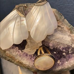 Mother of Pearl Ring & Earrings
